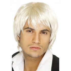 Boy band parykk blonde
