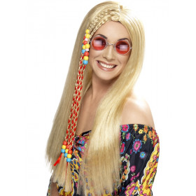 Blond hippie parykk