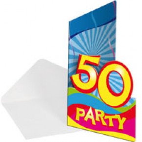Invitation til 50 år fest (8 stk.)