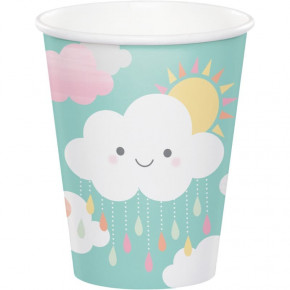 Smilende Sky Babyshower Kopper 266ml, 8stk.