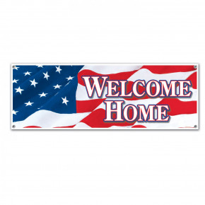 Welcome home banner 150X50cm.